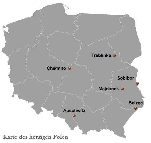 Deutsche Vernichtungslager im heutigen Polen