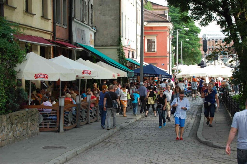 Krakau Stadtteil Kazimierz ul. Szeroka